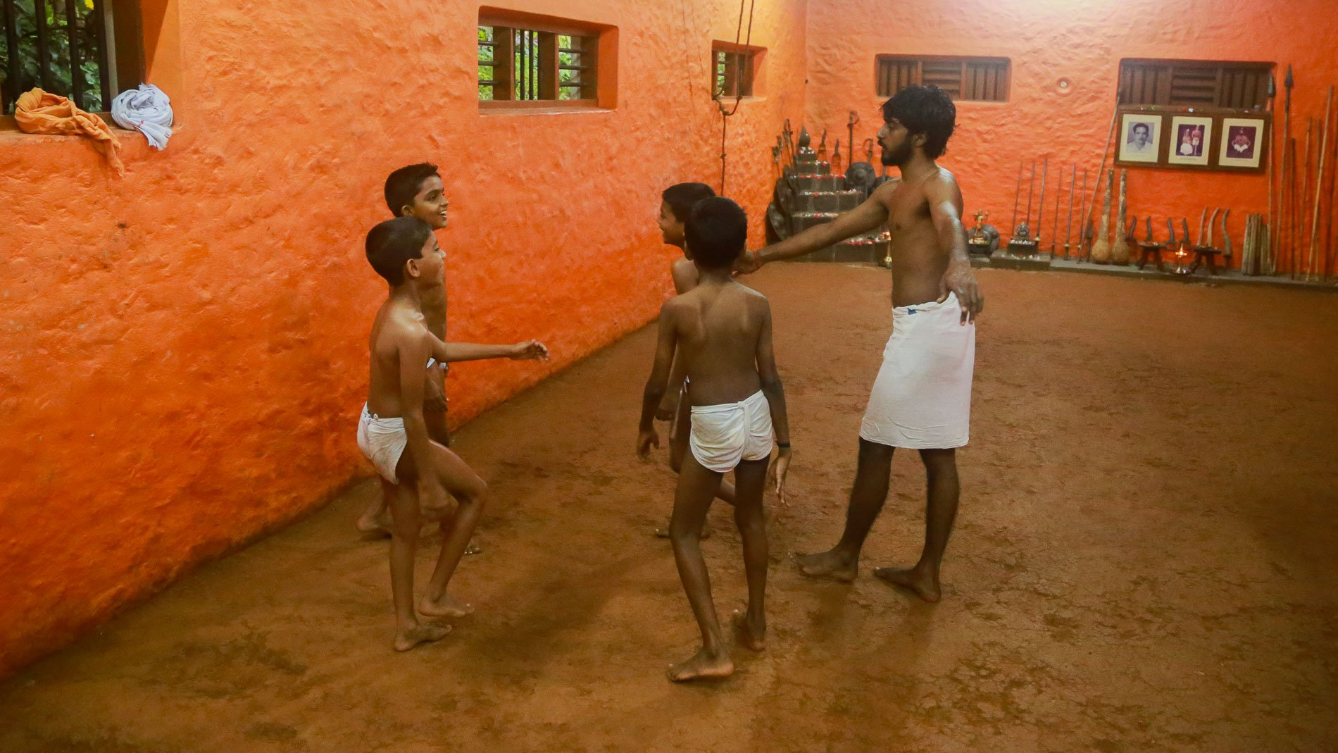 Kalaripayattu training requires discipline.