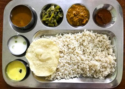 traditional kerala dishes rice and vegtables