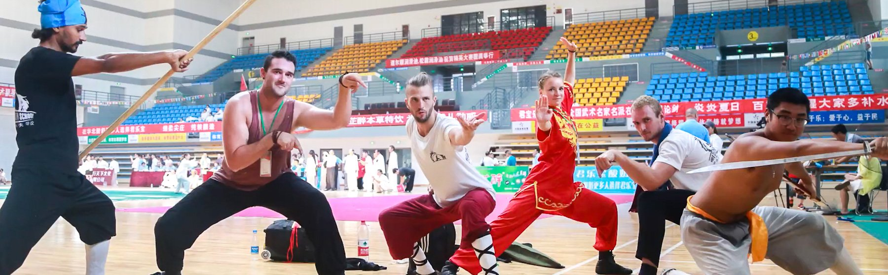 participants in kung fu competition in China