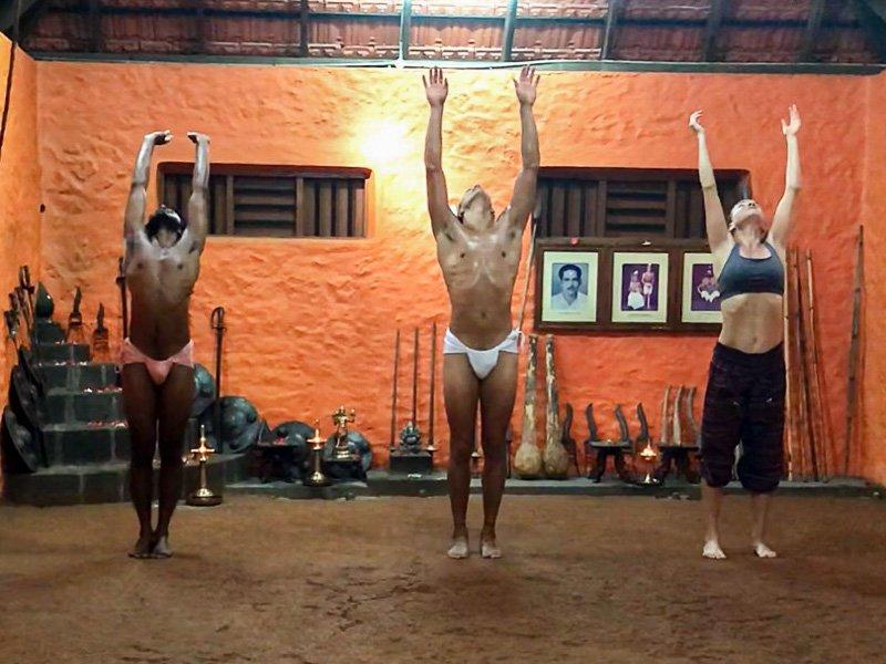 Training Kalaripayattu in India