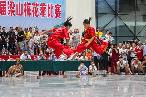 wushu competition china fight performance
