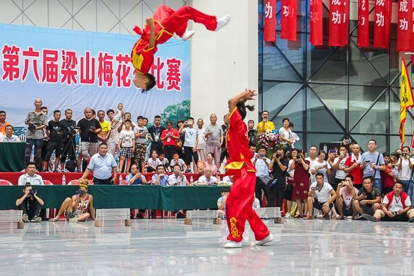 tournament in china back flip