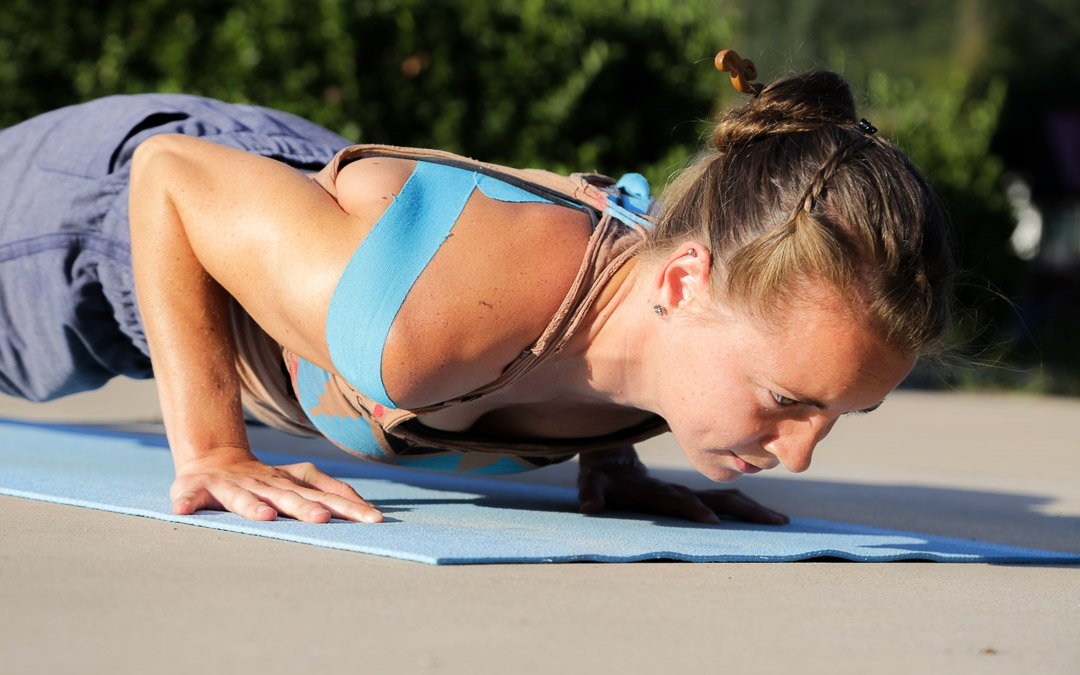 low plank in surya namaskar
