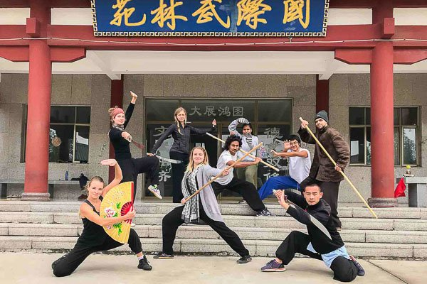 Master Du - Shaolin Kung Fu Master with his group from my 1st Year at School (2017)