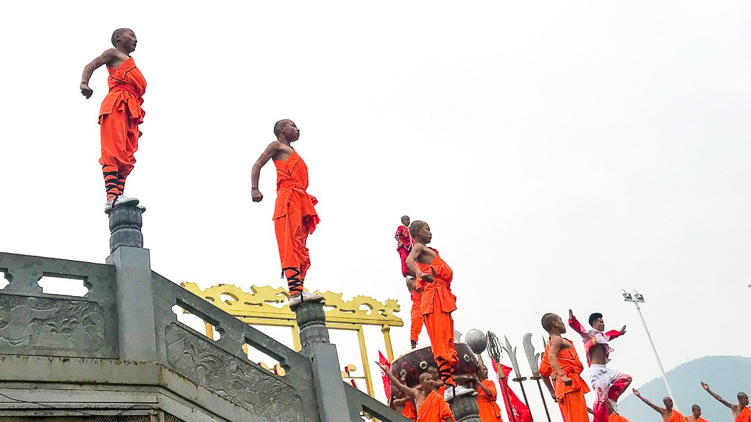 Street Performaces Shaolin Monks