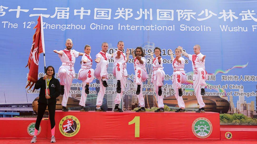 Students From Qufu Shaolin Kung Fu School