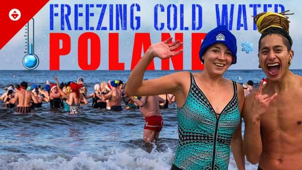 swimming in freezing water
