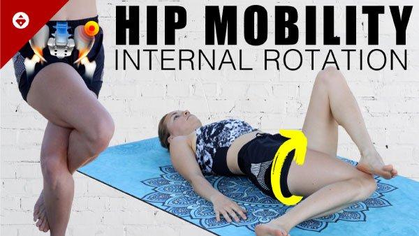 Hip stretches for internal hip rotation