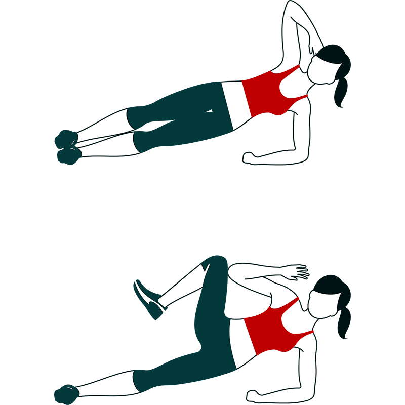 Side plank exercise for core